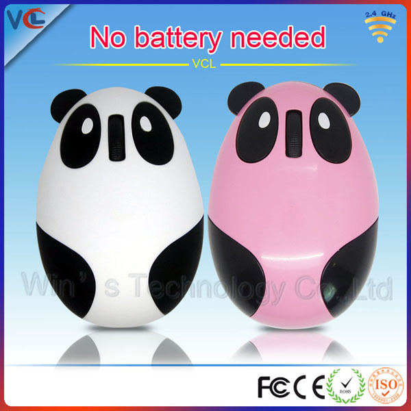Panda shape wireless mouse with rechargeable battery