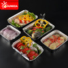 Disposable Aluminum Foil Takeout Pan Containers with Lids