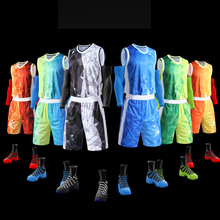 Dry Fit Sublimation Beste Reversible Basketball Uniform Set Farbe Blau