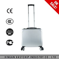 Elegant fancy space pc material 16 inch travelmate pilot trolley bag