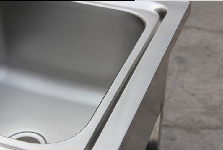 single bowl heavy duty commercial industrial ss kitchen