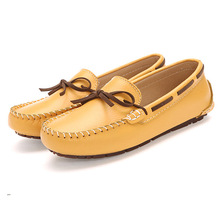 ZH0407L High quality korean soft sole TPR breathable real leather flat shoes for women