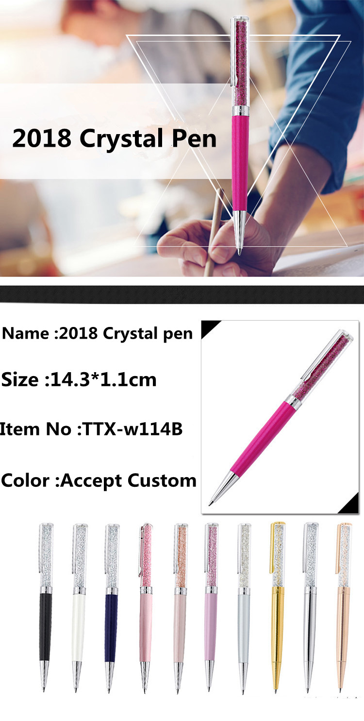 2018 new pen Promotional gift pen metal pen with crystal