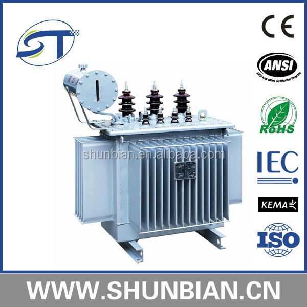 11kV 33kV hermetically seal tank power transformer pole mounted oil type immersed transformer S11 series
