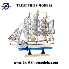 Various of wooden sailboat models for business gifts