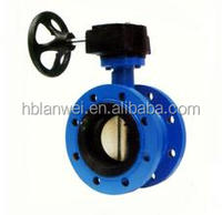 D341X-16 DN40-1200mm Gear operated Wafer end type Butterfly Valve