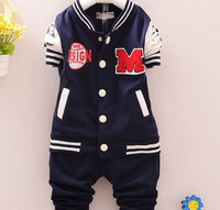 S10322A korean new fashion kid clothes baby set casual clothing two pieces sets