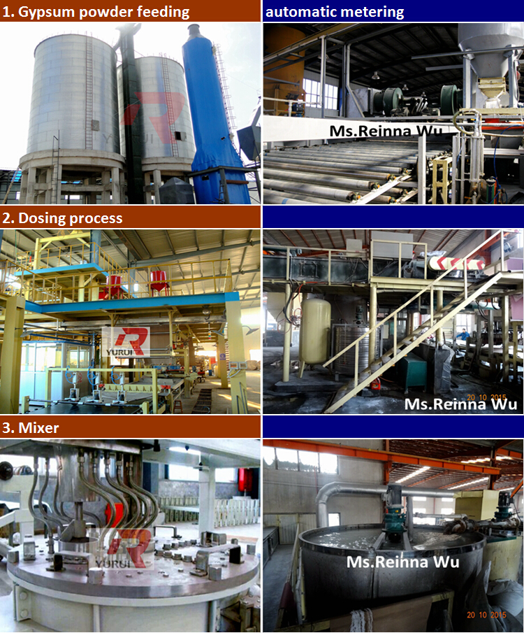 China supplier gypsum board production machine, gypsum board manufacturing machine