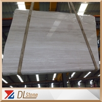 Good Quality Polished China White Wooden Marble Slabs For Sale