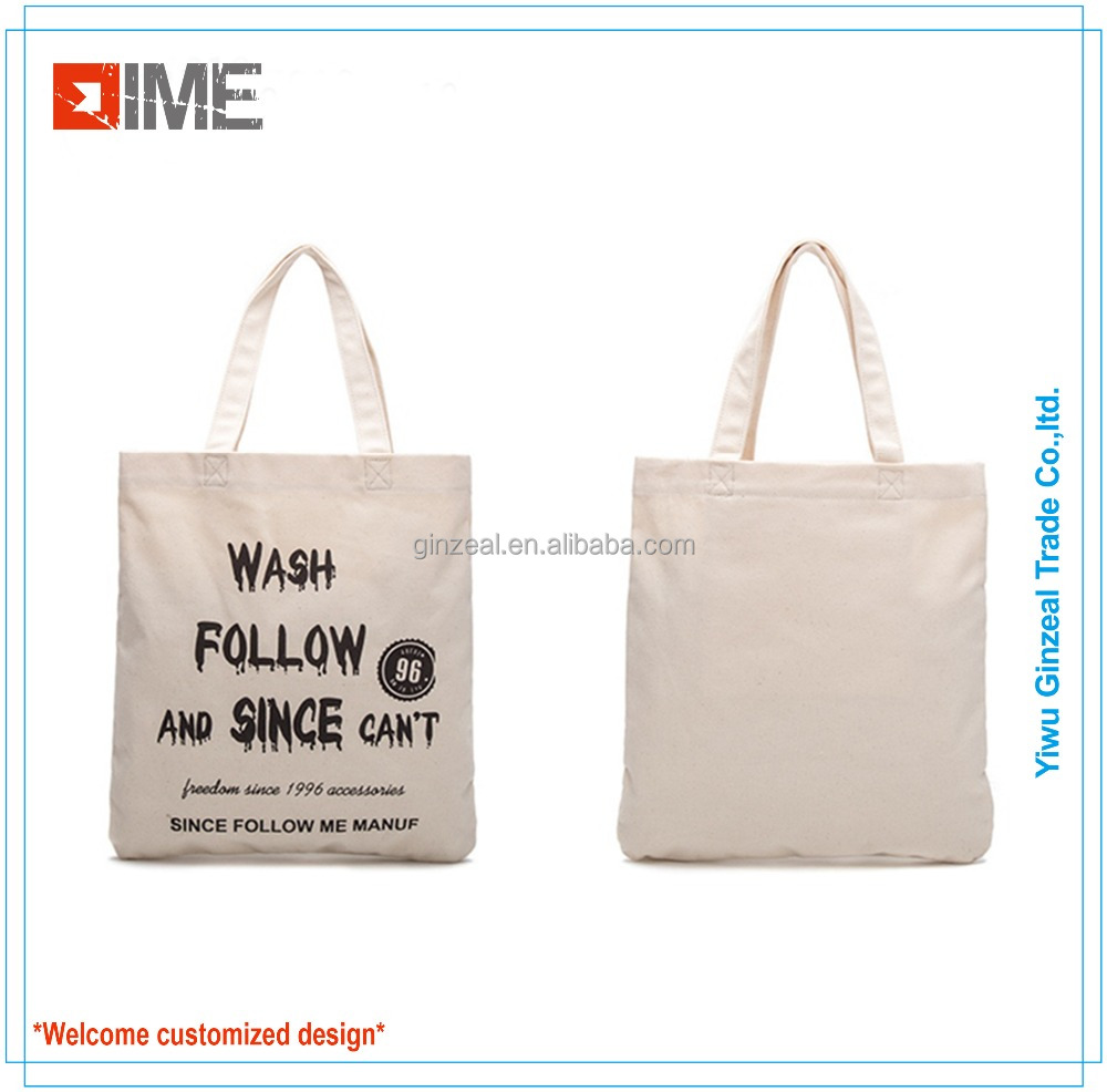 Small Size Durable Promotional Custom Canvas Tote Bag
