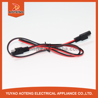 5.5x2.1mm or 5.5x2.5mm waterproof dc power cord.dc 24v power cable with fuse.car charger spring line