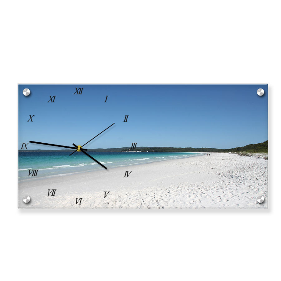 Hot Sale Acrylic Wall Mount Photo Picture Frame with built-in clock
