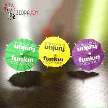 Colorful paper logo printed drink custom cocktail umbrellas with high quality