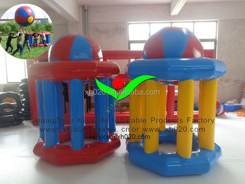 Crazy outdoor team group games inflatable giant basketball shooting sports