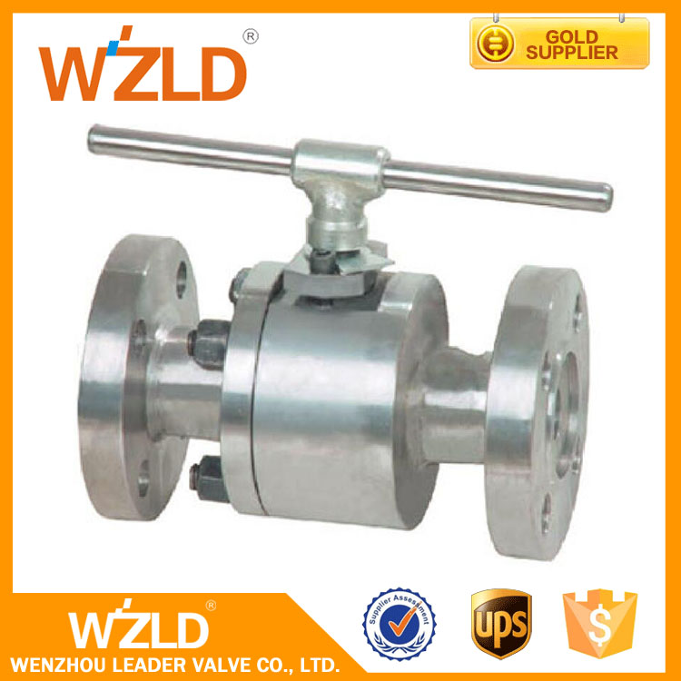 WZLD Forged Steel 2 Pieces DIN/ ANSI /BS Standard Flange Controlled Floating Ball Valve For Promotion