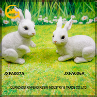 Resin garden ornament life size rabbit statues