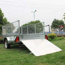 Hot Dipped Galvanized Utility Farm Used Aluminium Ramp Caged Box Trailers