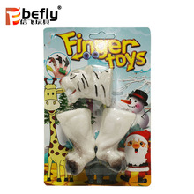 Wild animal series soft plastic tiger finger puppet