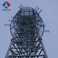 Galvanized Tubular Cellphone Telecommunication Antenna Tower