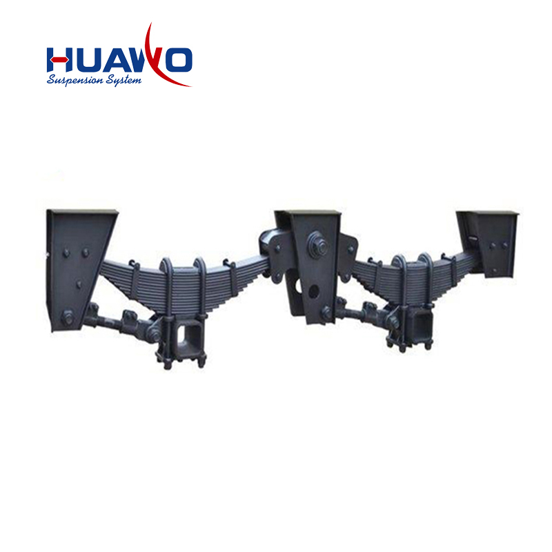 Locomotive spring steel tandem axle fuwa trailer suspension part leaf spring