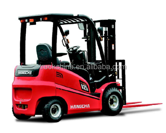 China brand Hangcha 1.5 tons mini electric forklift truck for sale