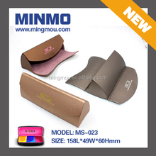 Factory wholesale personalized glasses case, pretty triangle pu optical case, eyewear eyeglass case