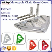 BJ-FSC-KW001 Silver Motorcycle Part Chain Guard Cover For Kawasaki Z250R / Z300R