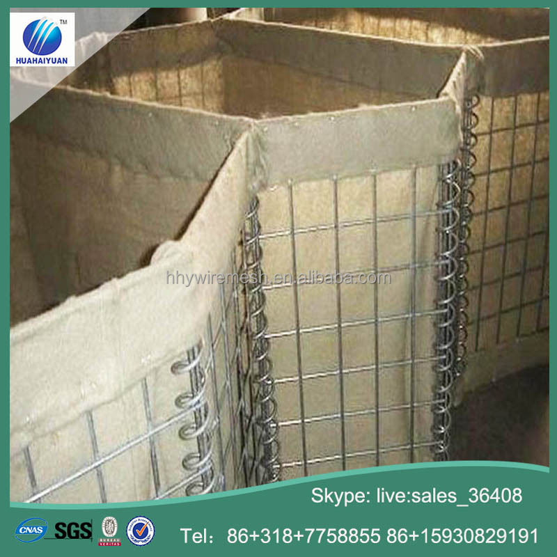 Flood barrier HESCO bastion wall welded gabion defensive barriers security barriers