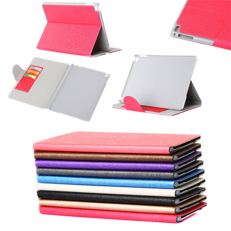 Bling bling leather tablet cover case for apple iPad air 2 with credit card slots