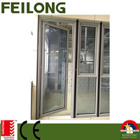 Customized Commercial Series Aluminum Frame Side Hinged Door Gained AS2047 Certification