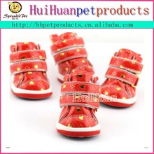 Heart shaped pattern pet shoes autumn and winter dog boots