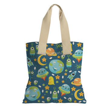 Custom Logo Printed High Quality Full Color Sublimation Canvas Cotton Tote Bag
