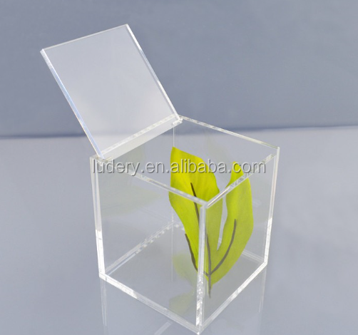 Hot sale custom plexiglass crystal clear larger acrylic display glass cube,acrylic cube