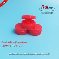 China supplier red color Plastic flip top cap 32 / ketchup squeeze bottle tips
