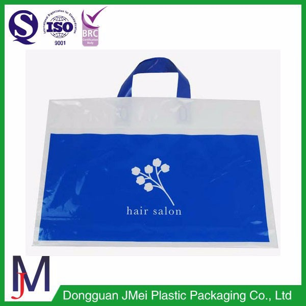 shopping totes white soft loop handle plastic bag