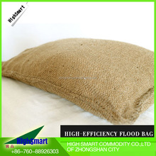 2016 portable water absorbent jute sandbag for anti-flood water stop