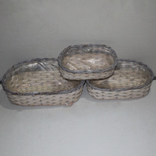 Cheap plastic liner wicker garden pots for flowers