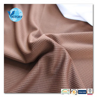 Thermal Garment 100 Polyester Knitting Waffle Fabric