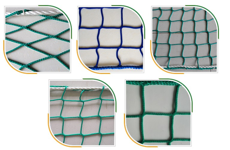 Nylon Raschel Knotless Contruction Safety Net