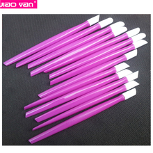 98mm plastic dark purple nail cuticle pushers #4210