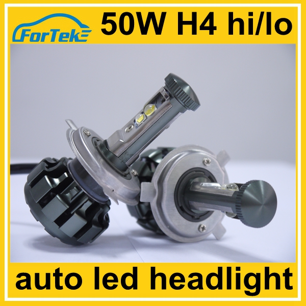 50W high power <strong>cree</strong> <strong>U2</strong> led car headlight H4 hi/lo 5000LM