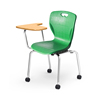 school student chair with fixed laminated top and casters