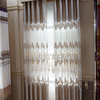 High quality European new style laser embroidered latest curtain designs 2015