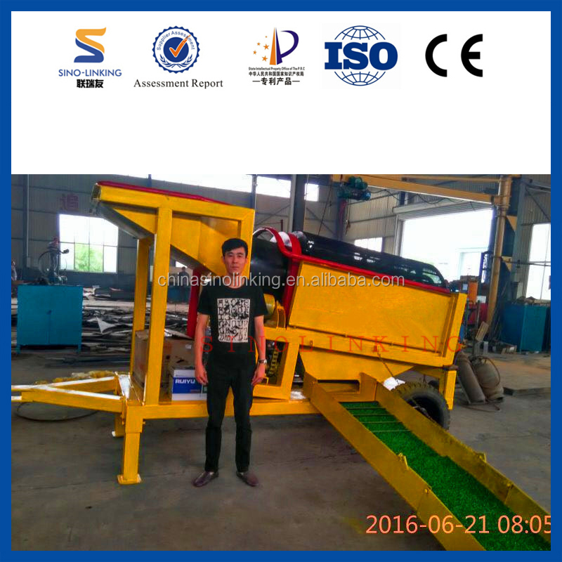 SINOLINKING Sand Gravel Separator for Gold Ore Separating with New Style Mobile Machinery
