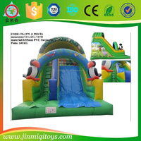 Popular Commercial Cheap forest series inflatable slide/inflatable bounce slide with blower