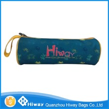 School printed round pencil case/pouch