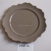 wholesale plastic wedding charger plates with any color