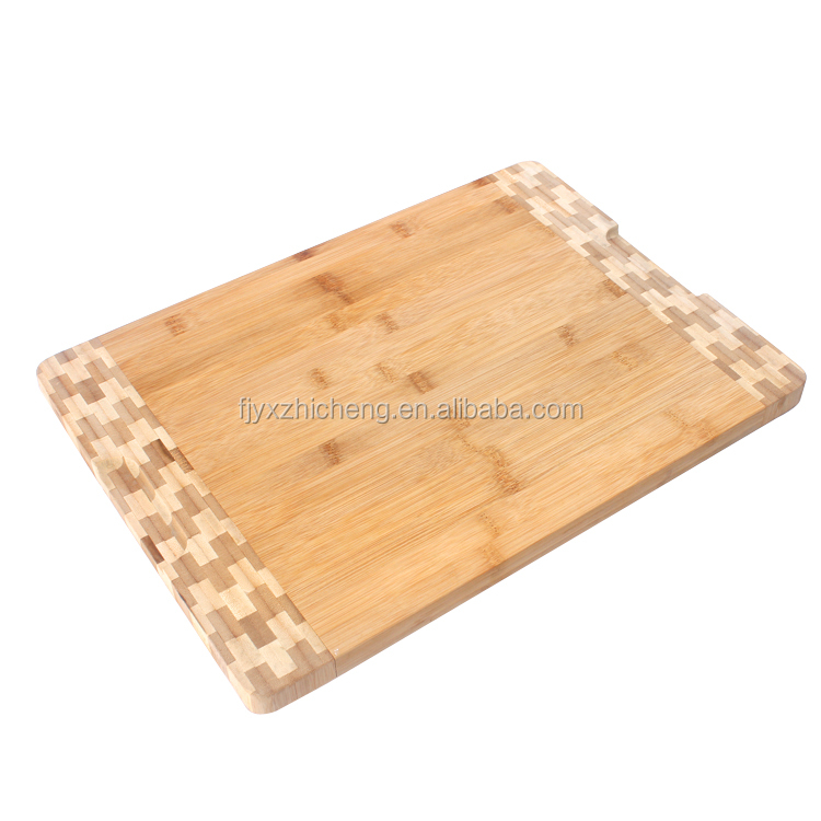 New Fashion Design Durable Bamboo Wood Cutting Board With Beautiful Edge