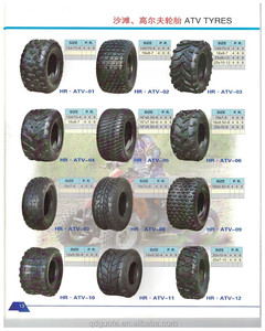 Hot sale good quality customized natural rubber ATV tyre black ply rating 6PR atv tire 19x7-8 ATV wheel