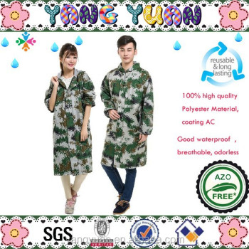Ladies Mens Raincoat Camouflage